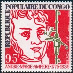 Андре Мари Ампер на марке Конго