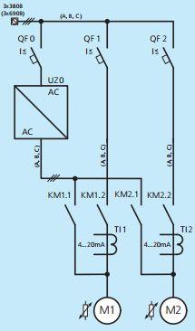 Модель FC2. Однолинейная схема