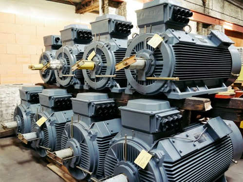 Электрические двигатели на производстве