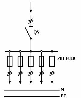 Схема электрическая принципиальная силового шкафа ШРС-1-20У3